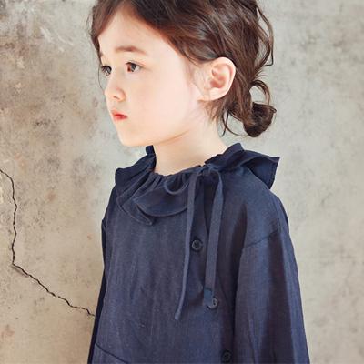e2596127266ce 女の子 キッズ 韓国子供服 即納・在庫処分・50%OFF・110、120cmのみ  大きめ・レニー長袖ワンピース(2色) 90~130cm   17ss295sweE1